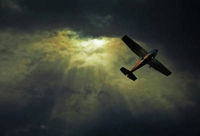 Cessna 172 Airplane Art Print by photograph by Anastasiya Fursova