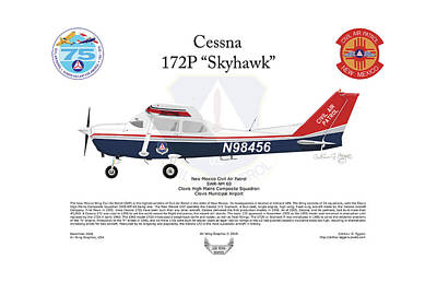 Digital Art - Cessna 172p Skyhawk by Arthur Eggers