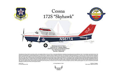 Digital Art - Cessna 172s Skyhawk by Arthur Eggers