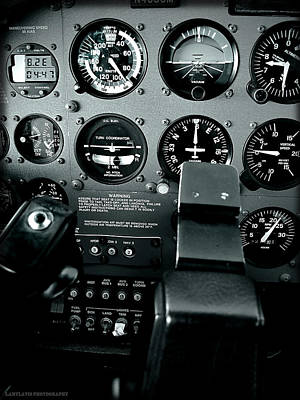 Cessna 172sp Cockpit Art Print
