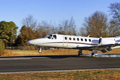 Photograph - Cessna Citation Touchdown by Jason Politte