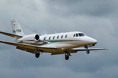 Photograph - Cessna Citation X Landing by James David Phenicie