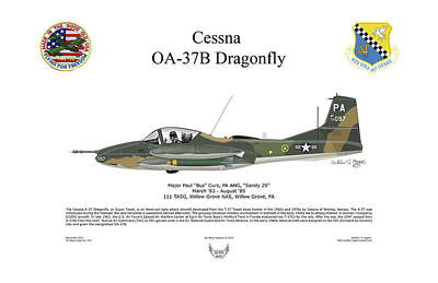 Digital Art - Cessna Oa-37b Dragonfly Maj Curs by Arthur Eggers