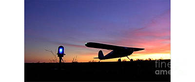 Caravaggio - Cessna Sunset by Denny Howard