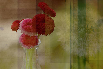 Dandelion Digital Art - C'est La Vie by Bonnie Bruno