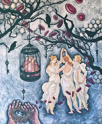 Cette Vie Est Sacree Art Print by Sheri Howe