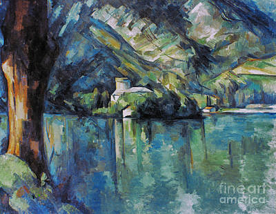 Impressionist Photograph - Cezanne: Annecy Lake, 1896 by Granger