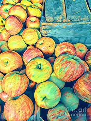 Photograph - Cezanne On The Hudson - Apples At The Farmers Market by Miriam Danar