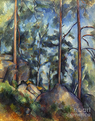 Impressionist Photograph - Cezanne: Pines, 1896-99 by Granger