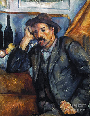 Cezanne: Pipe Smoker, 1900 Art Print by Granger