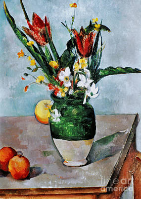 Impressionist Photograph - Cezanne: Tulips, 1890-92 by Granger