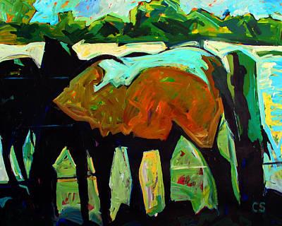 Cezannes Mare Original by Charlie Spear