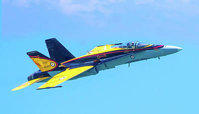 Photograph - Cf-18 Hornet by Mark Andrew Thomas