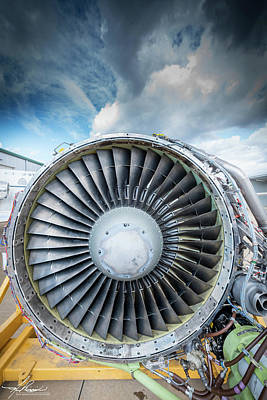 Photograph - Cfm56 Turbine Engine by Philip Rispin