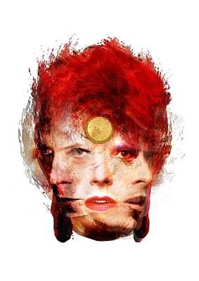 Ch Ch Changes David Bowie Portrait Art Print by Big Fat Arts
