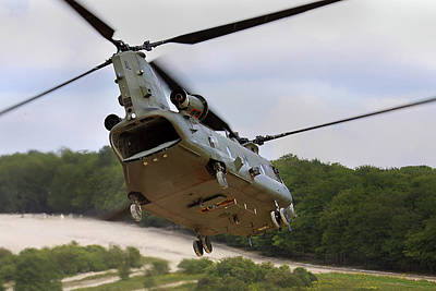 Photograph - Ch47 Chinook On Manoeuvres by Ken Brannen