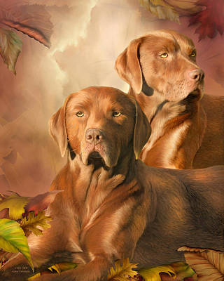 Chocolate Labrador Retriever Mixed Media - Cha Cha - The Chocolate Lab by Carol Cavalaris