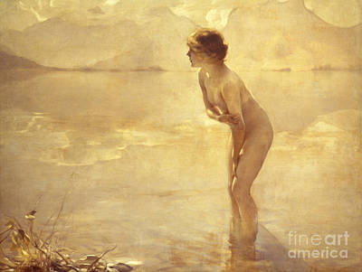 Nude Wall Art - Painting - Chabas, September Morn by Paul Chabas