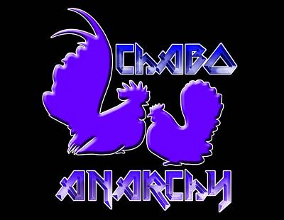 Digital Art - Chabo Anarchy Bluepurple by Sigrid Van Dort