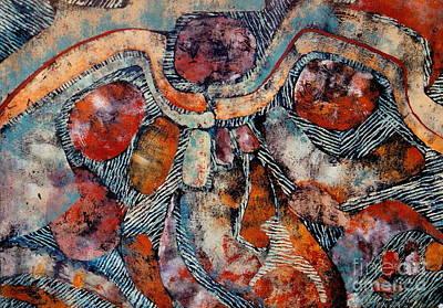 Mayan Mixed Media - Chac by Pamela Iris Harden