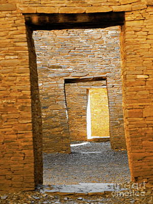 Photograph - Chaco Canyon Doorways by Tim Richards