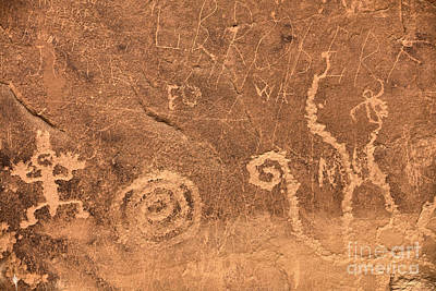 Photograph - Chaco Canyon Petroglyph Figures by Adam Jewell