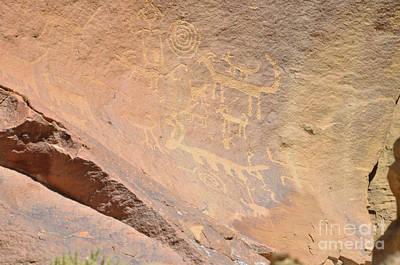 Photograph - Chaco Canyon Petroglyphs by Debby Pueschel
