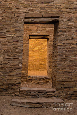 Photograph - Chaco Canyon - Pueblo Bonito Doorways 3 - New Mexico by Gary Whitton