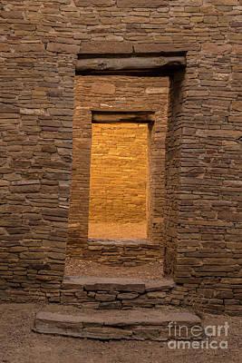 Photograph - Chaco Canyon - Pueblo Bonito Doorways 3 - New Mexico by Gary Whitton