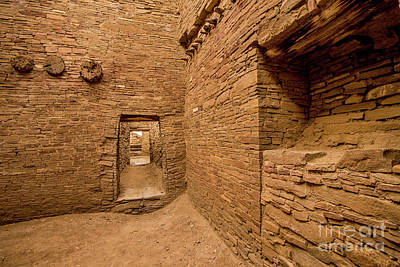 Photograph - Chaco Canyon - Pueblo Bonito - Interior Room - New Mexico by Gary Whitton