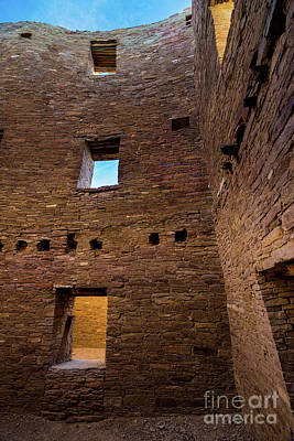 Photograph - Chaco Canyon - Pueblo Bonito -  Multi-story Room - New Mexico by Gary Whitton