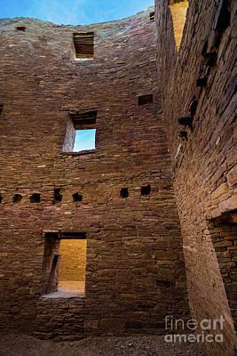 Photograph - Chaco Canyon - Pueblo Bonito -  Multi-story Room - New Mexico by Gary Whitton