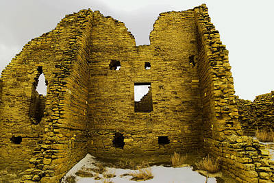 National Past Time Photograph - Chaco Canyon Ruins by Jeff Swan