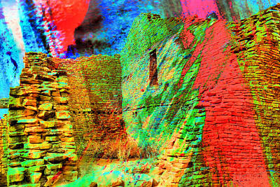 Chaco Culture Abstract Art Print by Jeff Swan