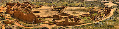 Photograph - Chaco Pueblo Bonito Panorama by Adam Jewell