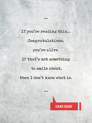 Mixed Media - Chad Sugg Quotes 2 - Literary Quotes - Book Lover Gifts - Typewriter Quotes by Studio Grafiikka