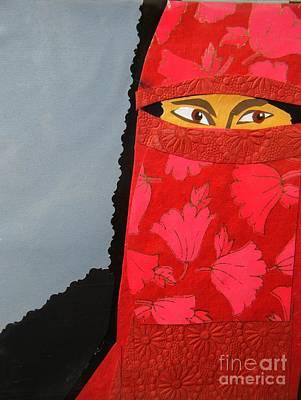 Portrait Black Veil Mixed Media - Chador by Debra Bretton Robinson