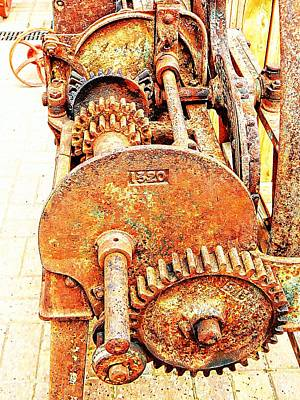 Photograph - Chaff Cutter Mechanism 1 by Dorothy Berry-Lound