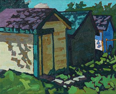 Painting - Chaffey Boat Houses by Phil Chadwick