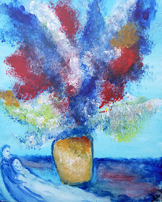 Marc Chagall Painting - Chagall's Flower Vase by Amanda Hunter