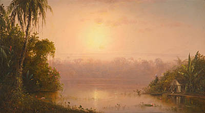 Indians Painting - Chagres River  Panama by Celestial Images