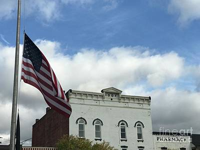 Photograph - Chagrin Falls Flag by Michael Krek