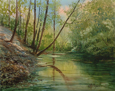 Chagrin River In Spring Original by Maryann Boysen