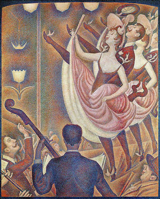 Applause Painting - Chahut 1890 by Georges Seurat
