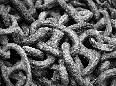 Photograph - Chain Abstract by Nadalyn Larsen