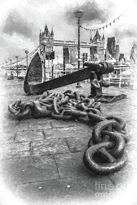 Digital Art - Chain And Anchor, Southwark by Howard Ferrier