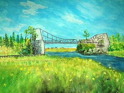 Painting - Chain Bridge Newburyport by Anne Sands