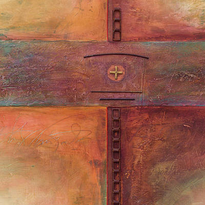 Wall Art - Mixed Media - Chain Cross - Close-up by Jane Dill