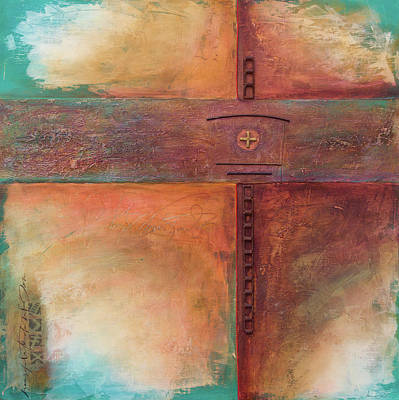 Wall Art - Mixed Media - Chain Cross by Jane Dill