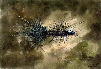 Fishing Flies Painting - Chain Eyed Bugger by Sean Seal